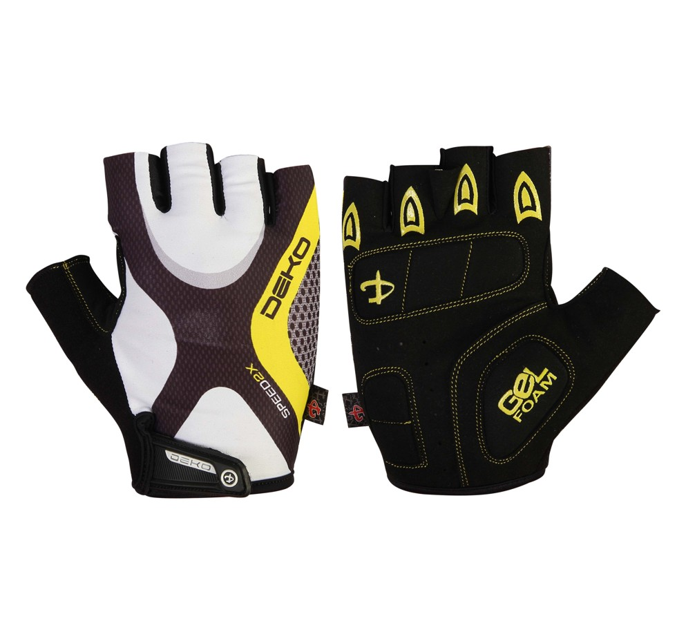 Ladies leather cycling gloves - Front Back
